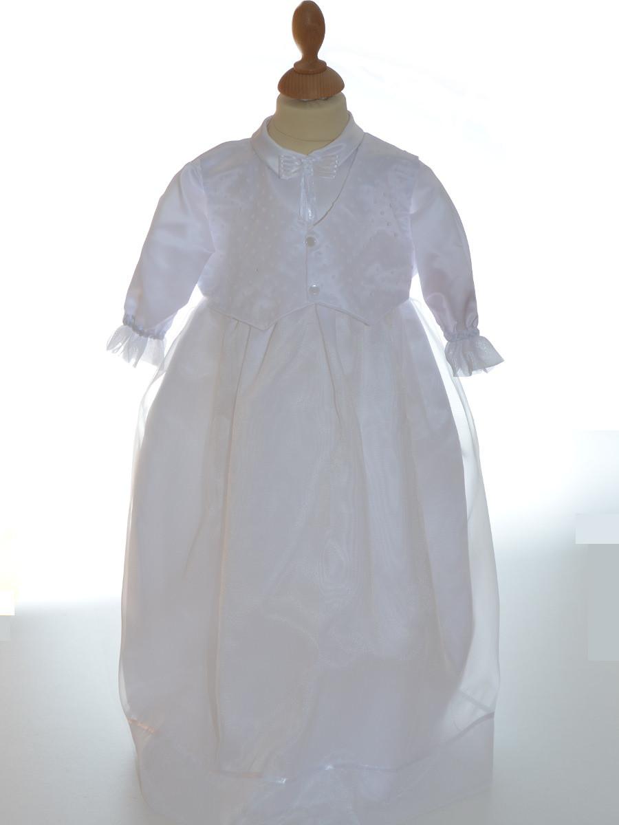Robe bapt me gar on couleur blanche gabriel - Couleur bapteme garcon ...