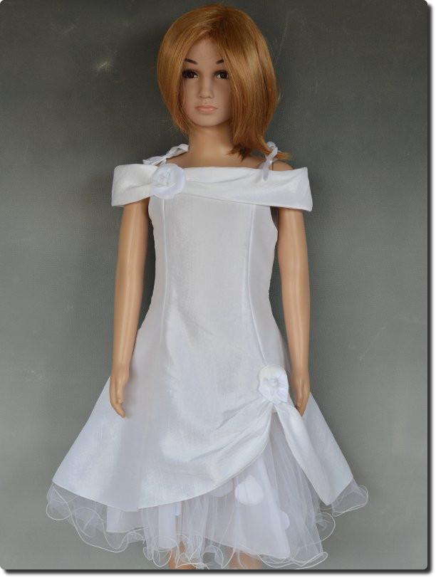 robe ceremonie blanche fille la mode des robes de france. Black Bedroom Furniture Sets. Home Design Ideas
