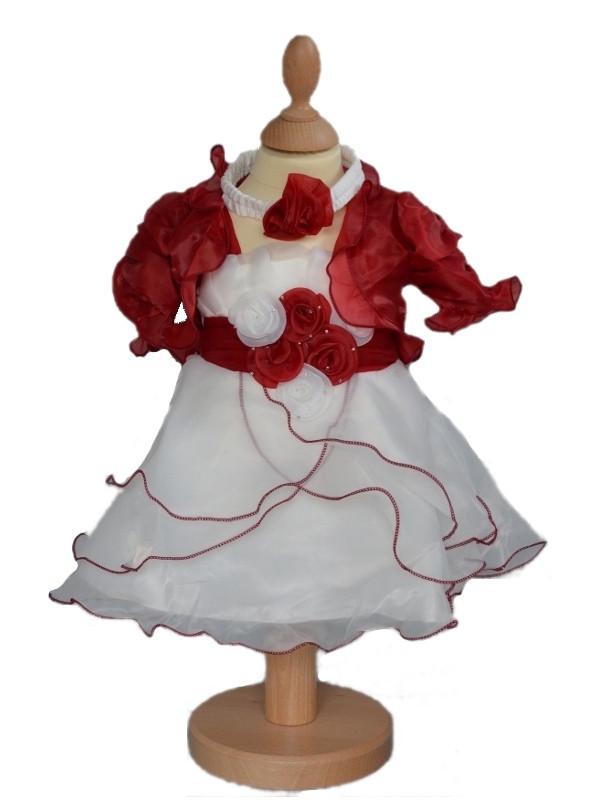 robe de crmonie fille ivoirebordeaux avec bolro clmentine - Bolero Fillette Pour Mariage