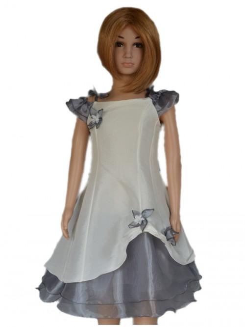 Robe de cort ge pour enfants de fabrication fran aise pas for Fleurs fille robes mariage
