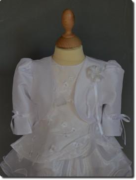 bolro enfant blanc pour mariage communion ou baptme petit prix - Bolero Fillette Pour Mariage