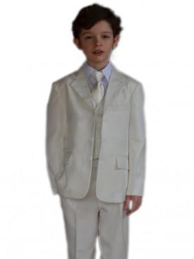 Costume garçon de cérémonie ivoire 5 pièces CHARLES