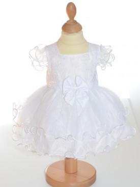 Robe baptême fille blanche CASSANDRE