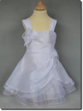 Robe baptême mi-longue pour fille, vêtement de baptême blanc, AMBRE