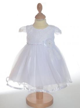 Robe de baptême blanche avec traîne IRINA
