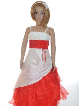 robe de crmonie fille ivoire et rouge sandra - Bolero Fillette Pour Mariage
