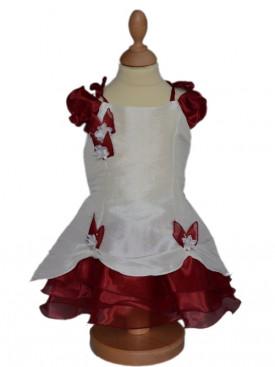 Vêtement de cérémonie pour bébé mariages,  bordeaux ALISéE, robe demoiselle d'honneur pour mariage