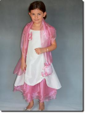 Robe de cérémonie fille cortège, rose, SARAH, petit prix