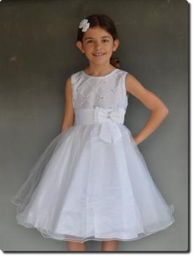 Robe de cérémonie fille blanche ELEN