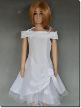 Robe de cérémonie pétales fille blanche ROMANE