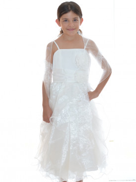 robe cortge fille ivoire paloma - Robe Cortege Fille Mariage