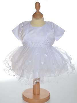 Robe baptême blanche fille