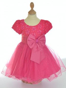 Tenue pour mariage bébé fille, de couleur fuschia, pas chère