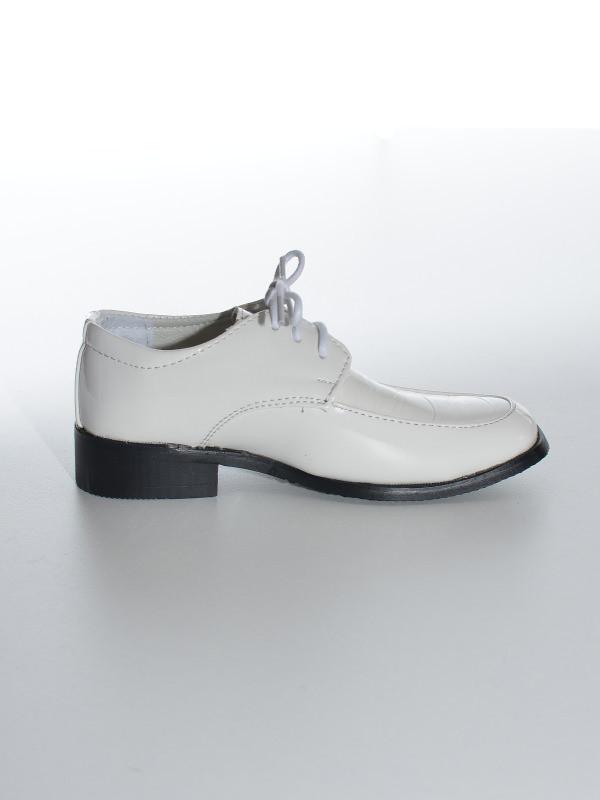 chaussures de cérémonie garçon blanche Thomas