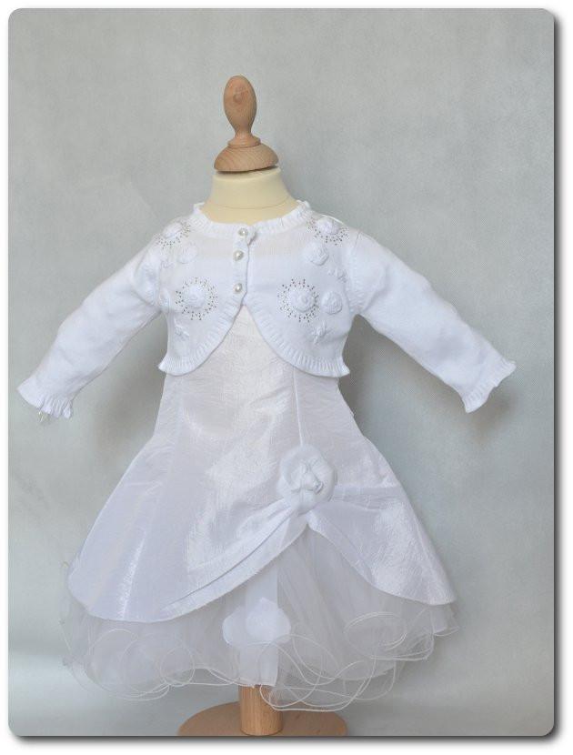 62a2f3fa9a193 Cardigan blanc cérémonie fille