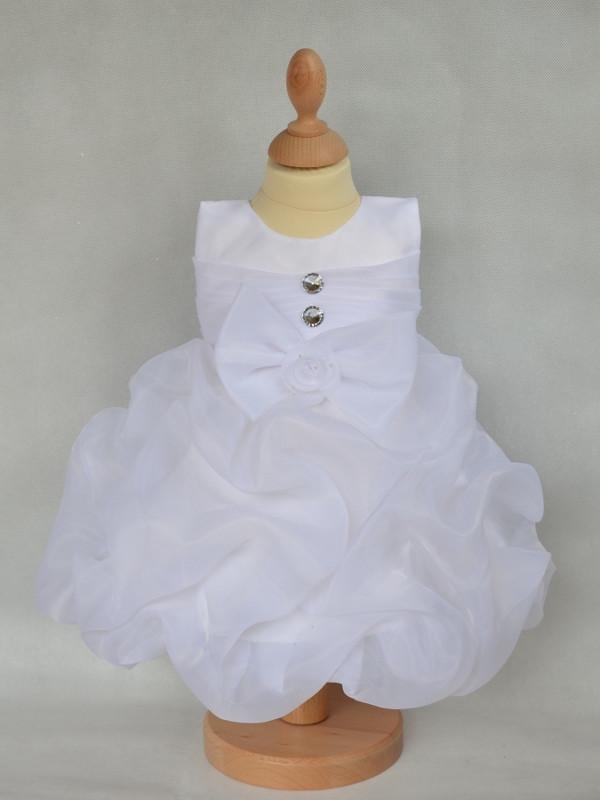 c8db9af62ad88 Vêtement de baptême fille blanc avec boléro MANON.