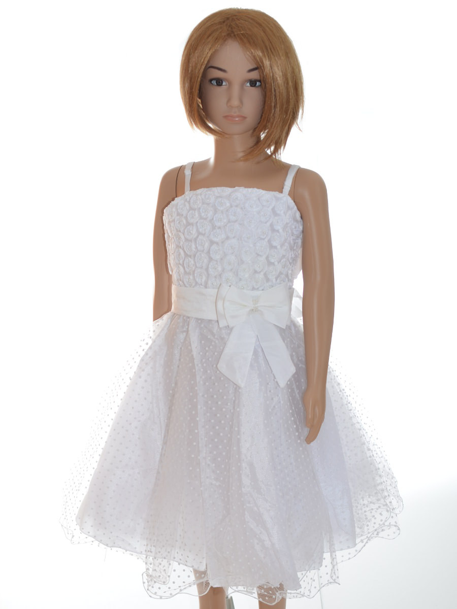 robe demoiselle d honneur fille cort ge blanche estelle. Black Bedroom Furniture Sets. Home Design Ideas