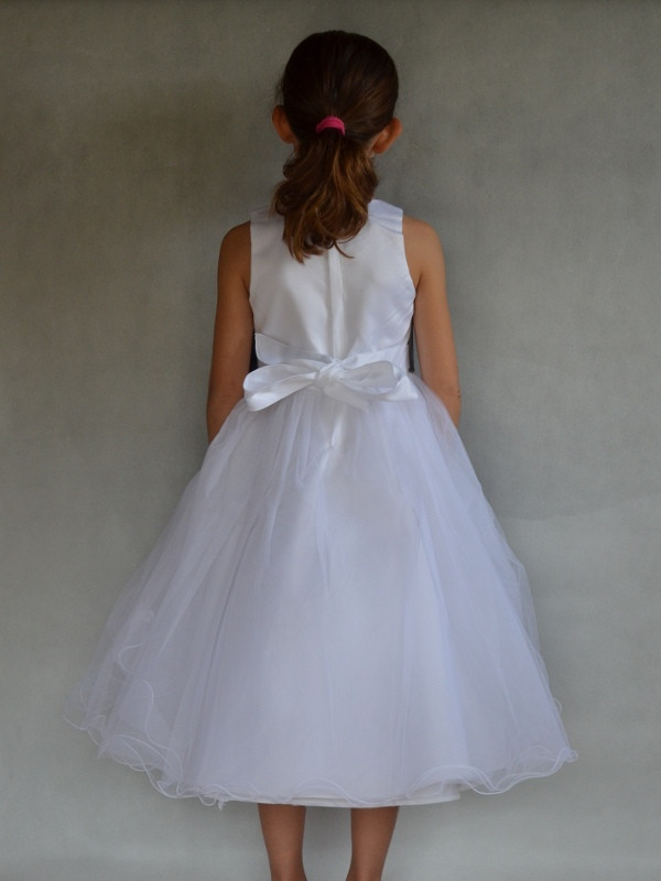 Robe ceremonie blanche fille