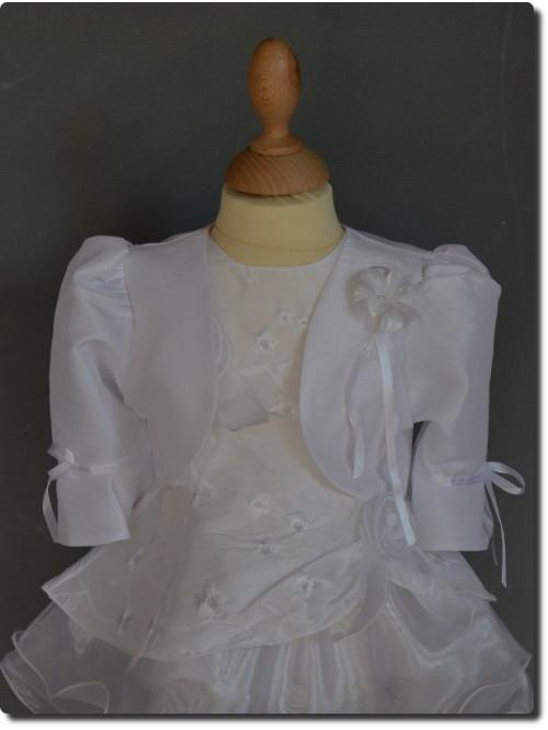 Boléro enfant blanc pour mariage communion ou baptême, petit prix.