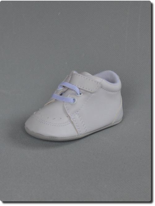 03fee4ddbe530 Chaussures de bébé garçon blanche pour baptême HARRY
