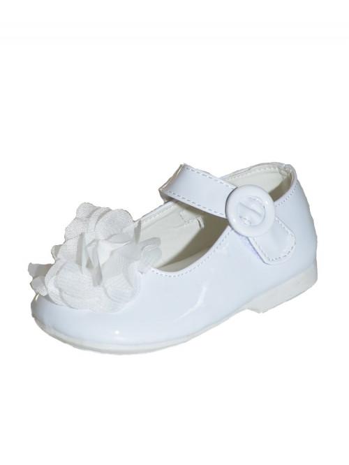 chaussures blanche de baptême fille INES
