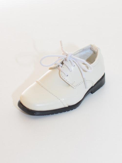 Chaussures garçon blanc cérémonie baptême NINO