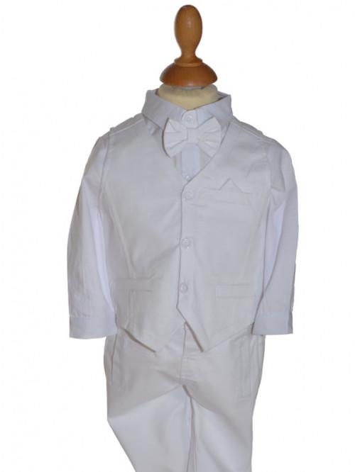 tenue de baptême blanc slim MARIUS