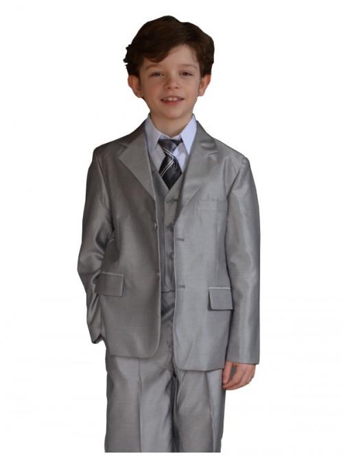 Costume enfant de cérémonie gris clair CÉSAR