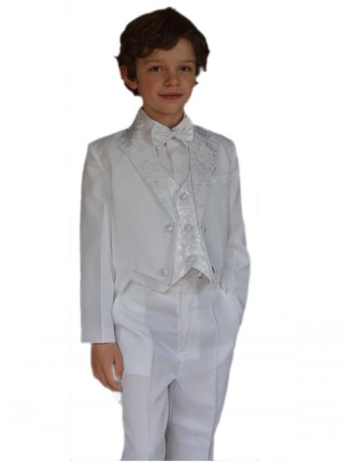 Costume blanc queue de pie garçon MARIO JUNIOR