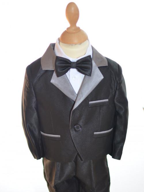 costume de cérémonie garçon noir et gris DIMITRI