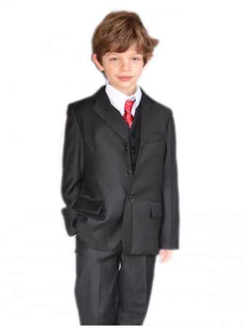 Costume garçon mariage noir uni ARTHUR