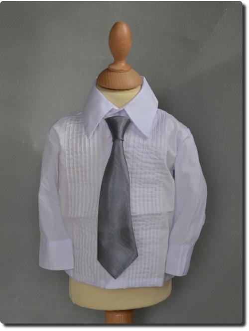 Cravate enfant satin couleur grise