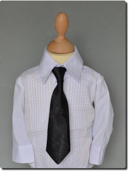 Cravate enfant satin noir