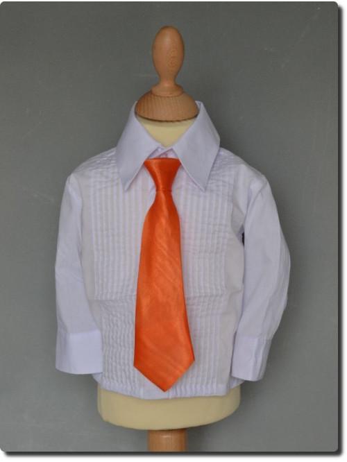 Cravate enfant satin couleur orange