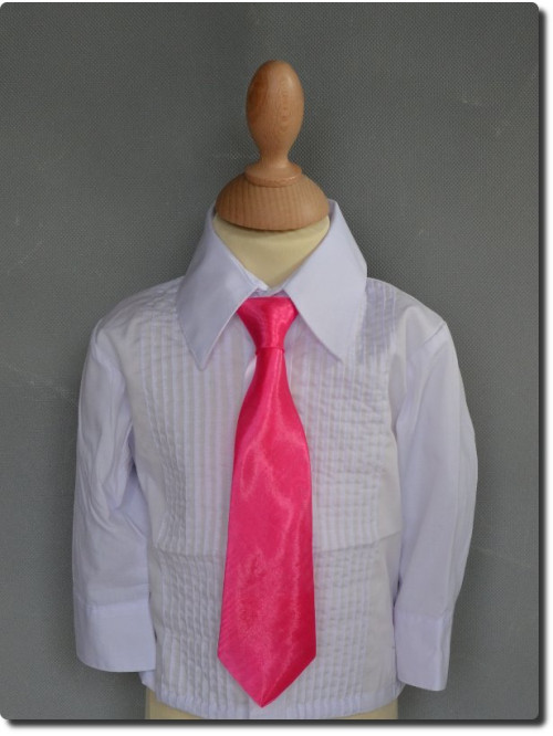Cravate enfant satin fuchsia