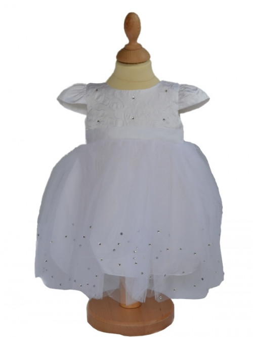 Robe de baptême bébé blanche STRASS