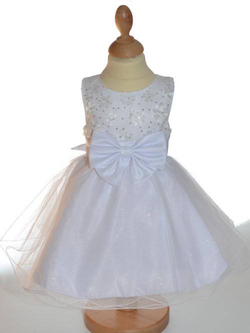 29000dfd7d7a7 robe blanche de bapteme pour fille SELENA
