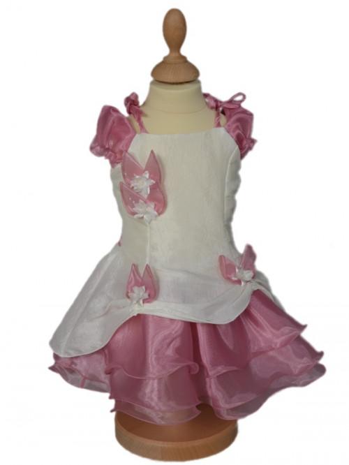 Robe de cérémonie de couleur rose pour bébé fille  SARAH