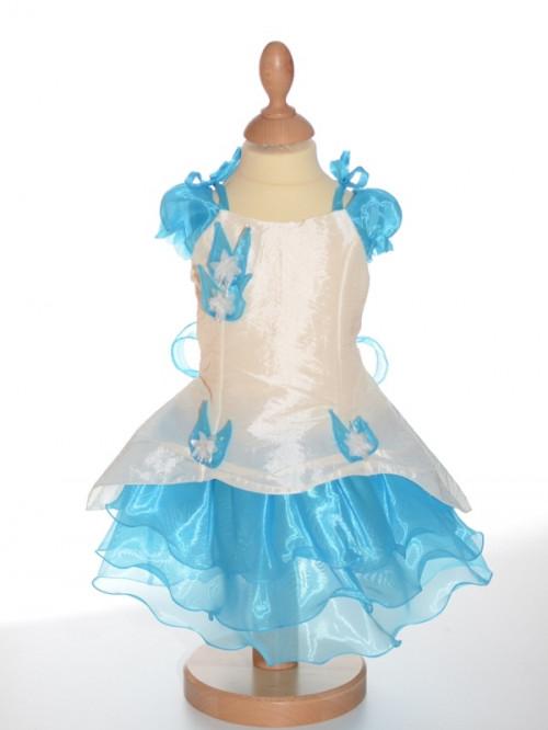 robe de c r monie pour b b fille turquoise blandine petit. Black Bedroom Furniture Sets. Home Design Ideas