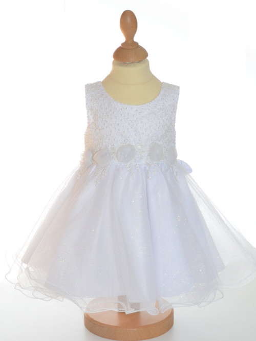 Robe de baptême fille blanche Salomé