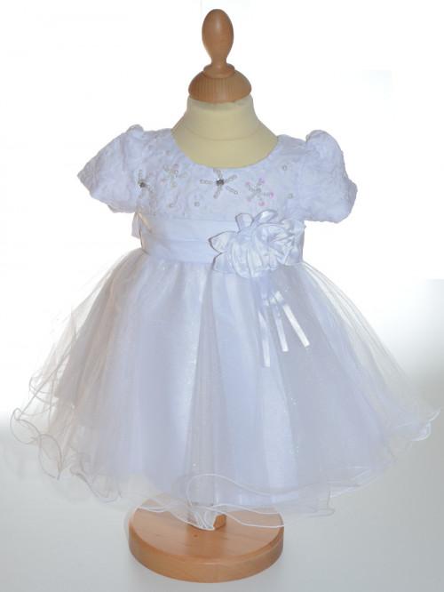 Robe de baptême blanche fille CARINA