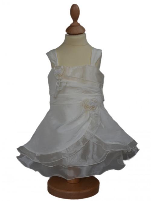 Robe de cérémonie petit fille pour baptêmes, tenue pour mariages bébé ALICIA à petit prix