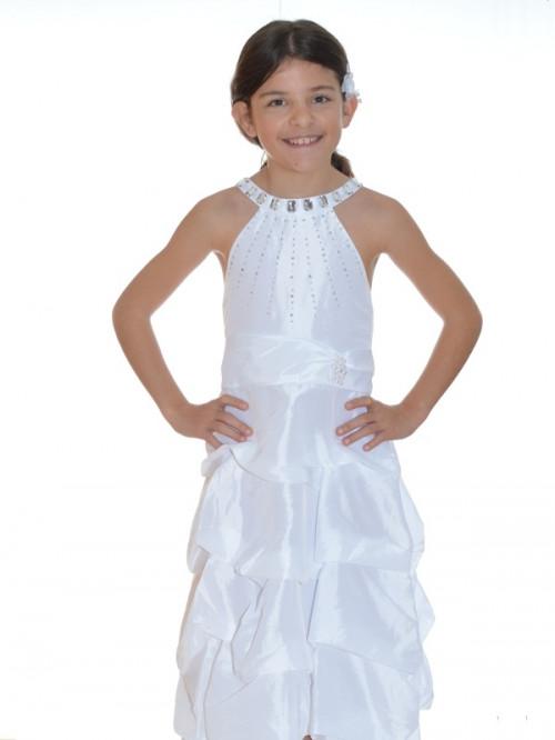 Robe de princesse blanche cérémonie fille