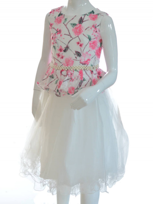 robe de cérémonie enfant fleurie EVA