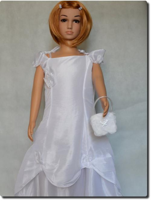 Robe petit prix pour mariage, communion blanche LISA