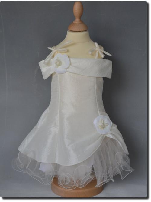 Robe de cérémonie bébé fille pétales ivoire MARIE