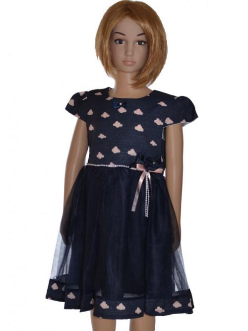 robe de cérémonie fillette bleu marine Coralie