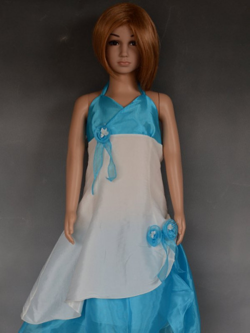 Robe de cérémonie enfants pas chère, turquoise ANGELINA
