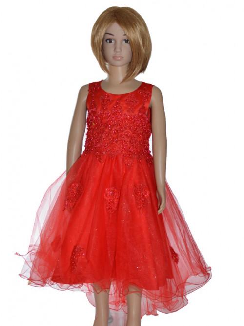 robe de cortège enfant rouge DIANA