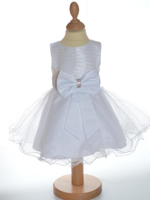 Robe de cérémonie petite fille blanche LOUISA